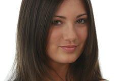 Retrato del brunette joven, hermoso, encantador fotografía de archivo libre de regalías