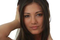 Retrato del brunette joven, hermoso, encantador fotos de archivo libres de regalías