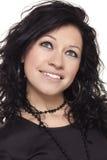 Retrato del brunette sonriente imagen de archivo libre de regalías