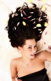 Retrato del brunettes hermosos jovenes Imagenes de archivo