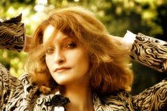 Retrato del business-woman acertado Fotografía de archivo libre de regalías