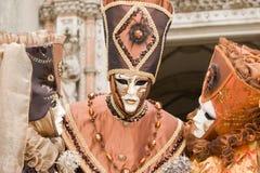 Retrato del carnaval de un grupo Foto de archivo