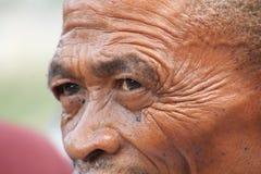 Retrato del cazador del bosquimano Foto de archivo libre de regalías
