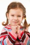 Retrato del cierre de la niña para arriba fotos de archivo libres de regalías