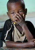 Retrato del colegial africano Fotos de archivo