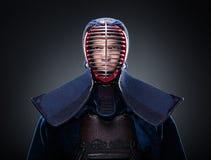 Retrato del combatiente del kendo foto de archivo libre de regalías