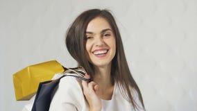 Retrato del comprador sonriente metrajes