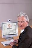 Retrato del conferenciante de la universidad imagen de archivo