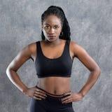 Retrato del corredor adolescente afroamericano Fotos de archivo