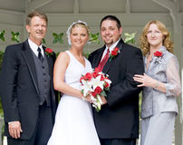 Retrato del día de boda imagenes de archivo