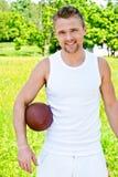 Retrato del deportista del rugbi Imagen de archivo libre de regalías