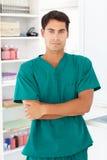 Retrato del doctor de sexo masculino joven Imagen de archivo