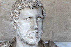 Retrato del emperador romano Antoninus Pius Imagen de archivo libre de regalías