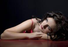 Retrato del encanto de la muchacha triste imagen de archivo libre de regalías