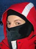 Retrato del esquiador de la muchacha Fotos de archivo libres de regalías
