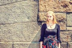 Retrato del estudiante universitario adolescente americano joven en Nueva York Fotos de archivo