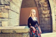 Retrato del estudiante universitario adolescente americano joven en Nueva York Imagen de archivo libre de regalías