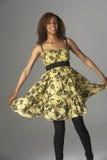Retrato del estudio de Gir adolescente de moda vestido Imagenes de archivo