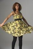 Retrato del estudio de Gir adolescente de moda vestido Fotografía de archivo libre de regalías