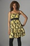 Retrato del estudio de Gir adolescente de moda vestido Imágenes de archivo libres de regalías