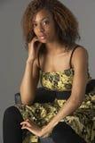 Retrato del estudio de Gir adolescente de moda vestido Fotos de archivo