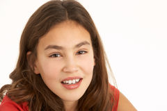 Retrato del estudio de la chica joven Fotografía de archivo