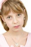Retrato del estudio de la muchacha hermosa joven Imagen de archivo libre de regalías