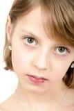 Retrato del estudio de la muchacha hermosa joven Imágenes de archivo libres de regalías