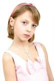 Retrato del estudio de la muchacha hermosa joven Imagenes de archivo