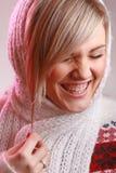 Retrato del estudio de la mujer de risa Fotografía de archivo