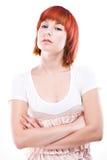 Retrato del estudio de la mujer joven atractiva Imagen de archivo libre de regalías
