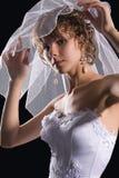 Retrato del estudio de una novia joven Imagen de archivo libre de regalías