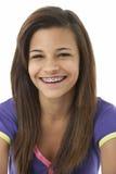Retrato del estudio del adolescente sonriente Imagen de archivo