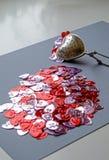 Retrato del extracto del tamiz del té del día de tarjeta del día de San Valentín imágenes de archivo libres de regalías