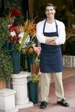 Retrato del florista de sexo masculino Outside Shop Imagen de archivo