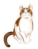 Retrato del gato de tabby del jengibre Foto de archivo