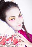 Retrato del geisha Imagen de archivo libre de regalías