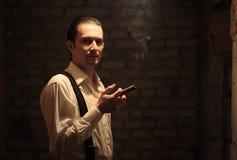 Retrato del gángster joven Fotografía de archivo libre de regalías