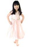 Retrato del gril lindo asiático feliz Imagen de archivo