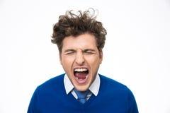 Retrato del grito del hombre Imagenes de archivo