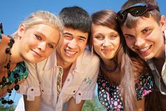 Retrato del grupo de amigos Imagen de archivo