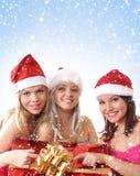 Retrato del grupo de la Navidad imagenes de archivo