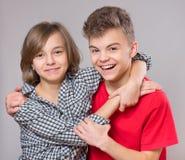 Retrato del hermano y de la hermana Foto de archivo
