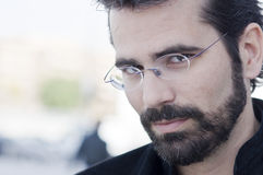 Retrato del hombre adulto atractivo con la barba Imágenes de archivo libres de regalías