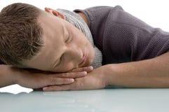 Retrato del hombre adulto durmiente Imagen de archivo libre de regalías