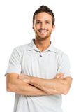 Retrato del hombre adulto joven feliz Imágenes de archivo libres de regalías