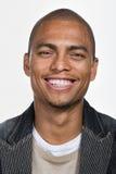 Retrato del hombre afroamericano adulto joven fotos de archivo