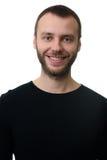 Retrato del hombre barbudo con sonrisa dentuda Fotos de archivo libres de regalías