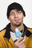 Retrato del hombre caucásico adulto joven Foto de archivo