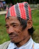 Retrato del hombre de Gorkha de Sikkim Imágenes de archivo libres de regalías